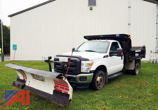 2014 Ford F350 XLT Super Duty Dump Truck with Plow