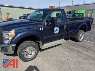 2015 Ford F350 XL Super Duty Pickup Truck with Plow