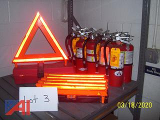 Fire Extinguishers & Safety Triangles