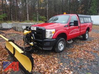 2012 Ford F350 XL Super Duty Pickup Truck w/ Cap & Plow