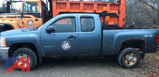 #194 2011 Chevy Silverado 2500HD Extended Cab Pickup Truck with Plow