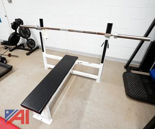 Body Power Bench Press with Olympic Style Bar