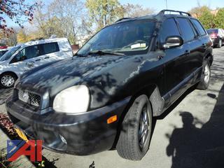 (#20) 2004 Hyundai Santa Fe 4 Door Sedan
