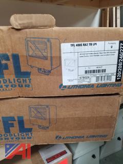 Lithonia Lighting TFL 400S RA2 TB LPI 400W High Pressure Sodium Flood Light, New/Old Stock