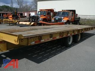 2002 Evaco Ent. D020T282TA 20 Ton Flat Bed Trailer