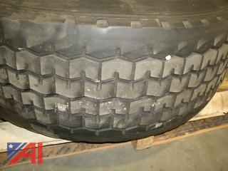 Mounted Goodyear 425/65R22.5 Tire