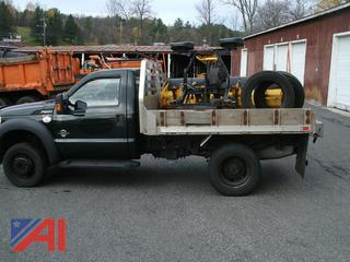 2012 Ford F550 Flat Bed Truck with Plow & Extra Tires