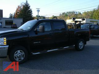 **Lot Updated, NOT in running condition** 2013 Chevy Silverado 2500HD Crew Cab Pickup Truck with Plow