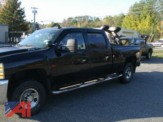 2009 Chevy Silverado 2500HD Crew Cab Pickup Truck with Plow