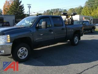 2014 Chevy Silverado 2500HD Crew Cab Pickup Truck with Plow