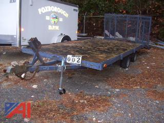 16' Flat Bed Trailer with Ramp