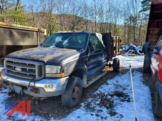 2004 Ford F350 Super Duty Pickup Truck with Rack Body (PARTS TRUCK)