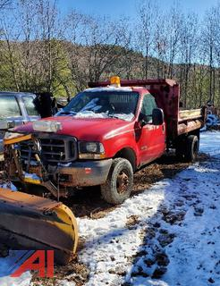 2004 Ford F350 XL Super Duty Pickup with Dump & Plow