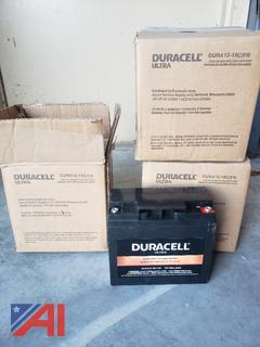 Duracell Ultra Dura12-18C/FR Batteries, New/Old Stock