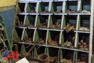 Wood Bin with Assorted Specialty Metals