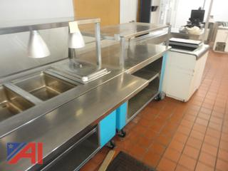 Cafeteria Stainless Steel Serving Line and More