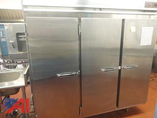 Victory Stainless Steel 3 Door Pass Through Refrigerator