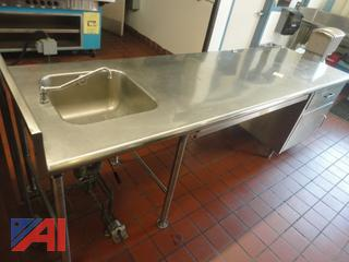 9' Sink Station with Faucet/Foot Controls and More