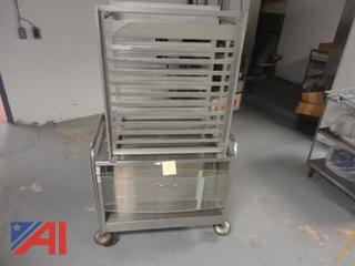 Stainless Steel Rolling Cart and Rack