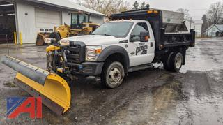 2016 Ford F550 XL Super Duty Dump Truck with Plow & Sander