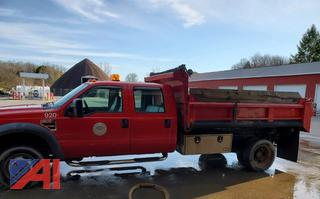 2008 Ford F550 Crew Cab Pickup Truck with Dump