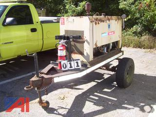 1987 Hobart Mega Arc 4063G Welder on Trailer, E#39953