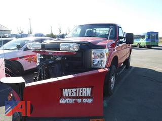2015 Ford F250 Pickup Truck with Plow