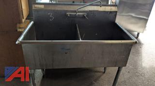 Stainless Counter & Two Bay Pot Sink