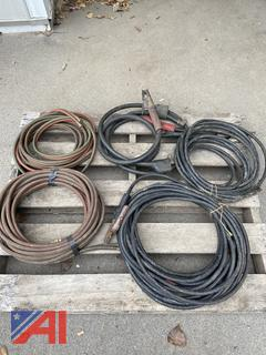 Assorted Hoses & Leads for Oxy-Acet & Welders