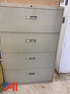 4-Drawer Horizontal Filing Cabinet