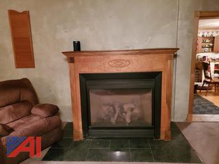 Propane Fireplace with Mantle
