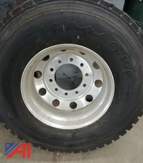 (#3) 12R22.5 Tire and Rim, New/Old Stock