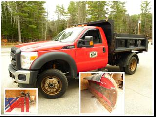 2011 Ford F450 Super Duty Truck with Dump &  Plow