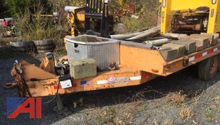 1973 Eagger Beaver 9 Ton Equipment Trailer with Ramps
