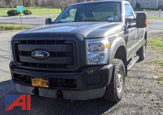 2013 Ford F250 XL Super Duty Pickup Truck, Plow & Sander