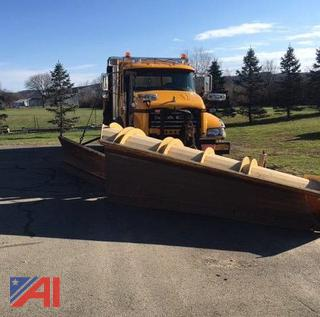 2009 Mack GU713 Dump Truck with Plow and Wing