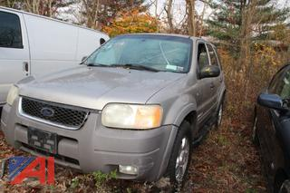 2001 Ford XLT Escape SUV