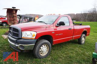 2006 Dodge Ram 2500 Pickup Truck with Plow