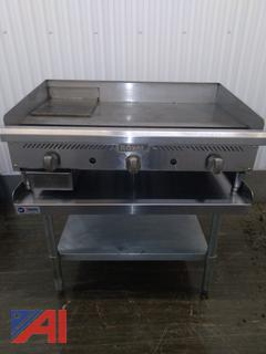 "Royal 36"" Gas Flatgrill with Stand"