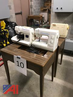 Sewing Machines with Tables