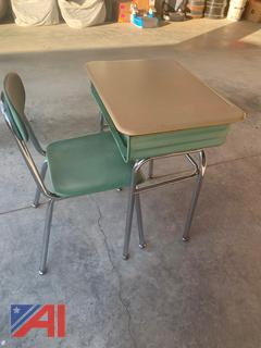 Elementary Sized Desks and Chairs