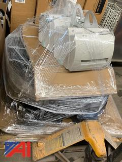 Pallet of Printers and Monitors