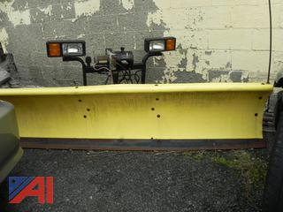 """(#7) 7' 4"""" Fisher Poly Quick Mount Snow Plow"""