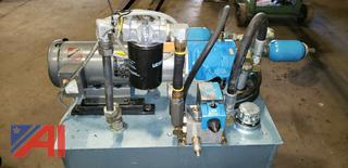 Complete Vickers Hydraulic Unit With Pump, Motor, Accumulators and Reservoir