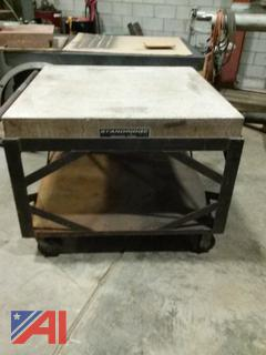 Standridge Granite Table on Wheels