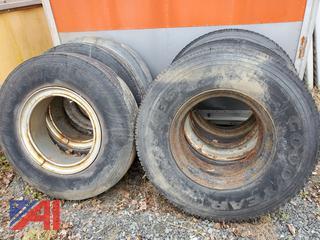 11R22.5 Tires on Rims