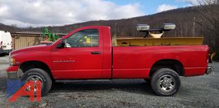 2005 Dodge Ram 2500 Pickup Truck with Plow