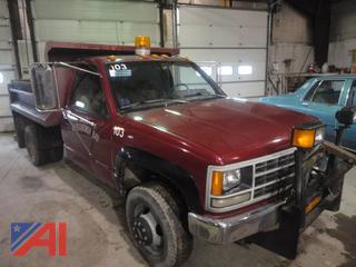 1992 Chevy Cheyenne C/K 3500 Dump Truck & Plow