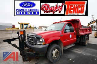 2004 Ford F550 XL Super Duty Dump Truck with Plow & Wing