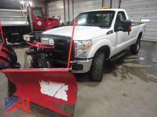 2015 Ford F250 XL Super Duty Pickup Truck with Plow & Spreader